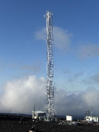 The air sampling tower at Mauna Loa Observatory is 120 feet high.