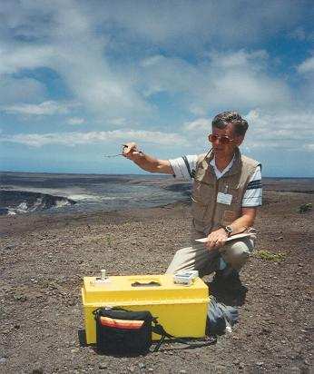 Measuring sunlight at Kilauea.